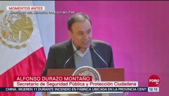 Alfonso Durazo defiende creación de la Guardia Nacional