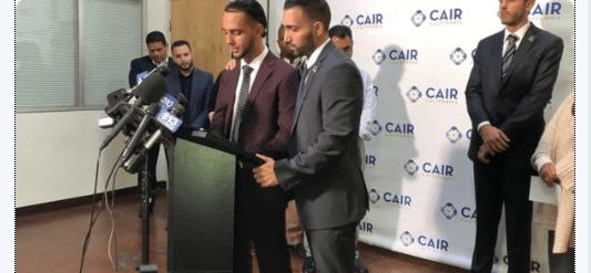 Ali Hasan durante conferencia de prensa. (https://www.sacbee.com)
