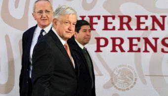 Andrés Manuel López Obrador durante conferencia matutina.