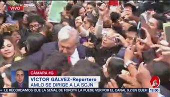 AMLO se dirige a la SCJN; asiste al informe del ministro Luis María Aguilar