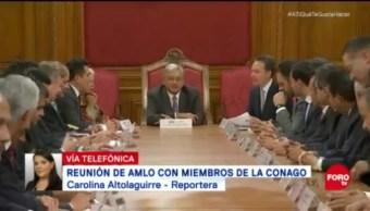 AMLO Sostuvo Reunión Integrantes De Conago
