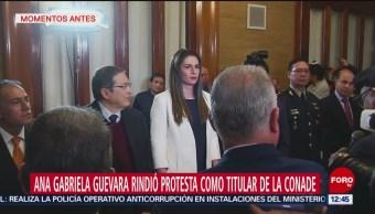 Ana Gabriela Guevara rinde protesta como titular de la Conade