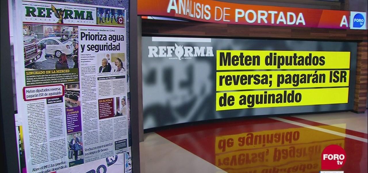 Análisis de las portadas nacionales e internacionales del 6 de diciembre del 2018