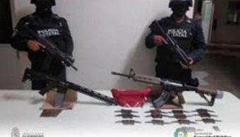 Aseguran armas de uso exclusivo del Ejército en Guerrero