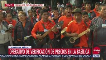 Arribo de peregrinos a la Basílica de Guadalupe