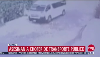 Asesinan a chofer de transporte público en Puebla