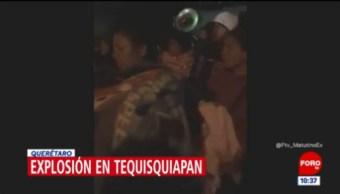 Así fue el momento de la explosión de pirotecnia en Tequisquiapan, Querétaro
