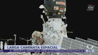 Astronautas refuerzan cubierta donde se registró fuga de nave Soyuz