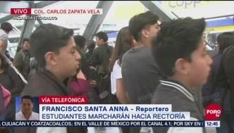 Avanza manifestación de estudiantes de la Prepa 2 de la UNAM