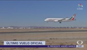Avión presidencial mexicano ya está en California, donde será vendido