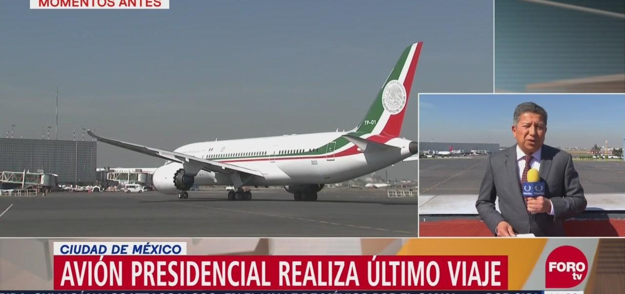 Avión presidencial realiza su último vuelo