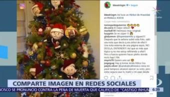 Beatriz Gutiérrez presume árbol de Navidad de AMLO