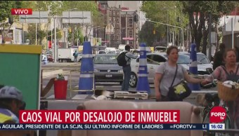 Bloqueo en Río de la Loza afecta hasta Paseo de la Reforma