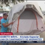 Calma en campamento de migrantes en Tijuana