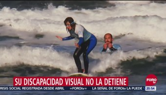 Carmen López Surfista Ciega Desea Competir Juegos Paralímpicos