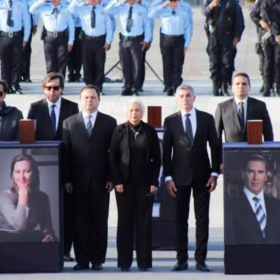 Realizan funeral de estado en honor a Martha Erika Alonso y Moreno Valle