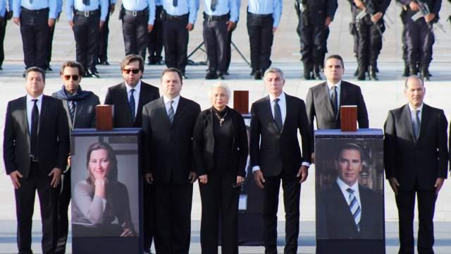 Realizan funeral de estado Erika Alonso y Moreno Valle