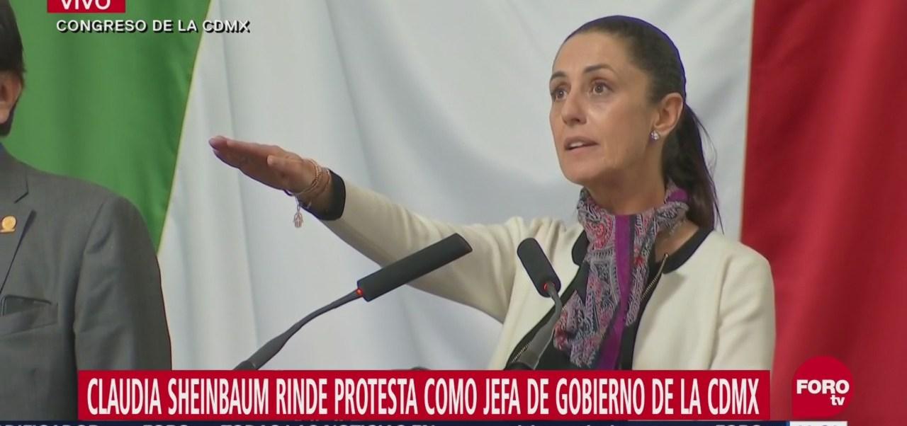 Claudia Sheinbaum rinde protesta como jefa de Gobierno de la Ciudad de México