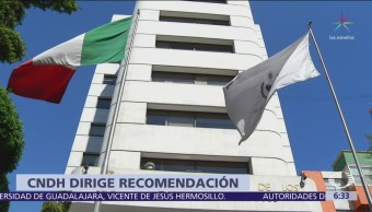 CNDH emite recomendación a la Secretaría de Marina