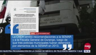CNDH Emite Recomendación Semar Tortura Policías
