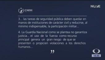 CNDH Se Pronuncia Sobre Guardia Nacional, CNDH, Guardia Nacional, Comisión Nacional De Derechos Humanos