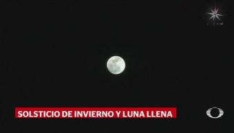 Comienza Solsticio Invierno Acompañado Luna Llena