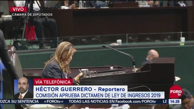 Comisión de Hacienda en San Lázaro aprueba dictamen de Ley de Ingresos 2019