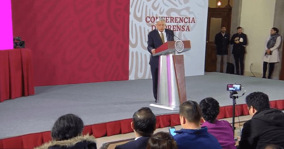 Conferencia de prensa de López Obrador. (YouTube)