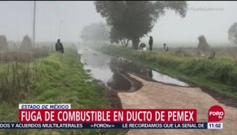 Controlan fuga de combustible en Acolman, Estado de México