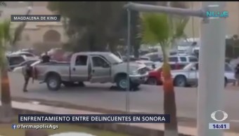 Criminales se enfrentan en municipio de Sonora