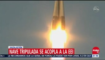 Despega Cohete Soyuz Base Baikonur Kazajistán