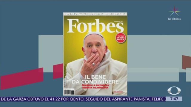 El papa en la portada de la revista Forbes