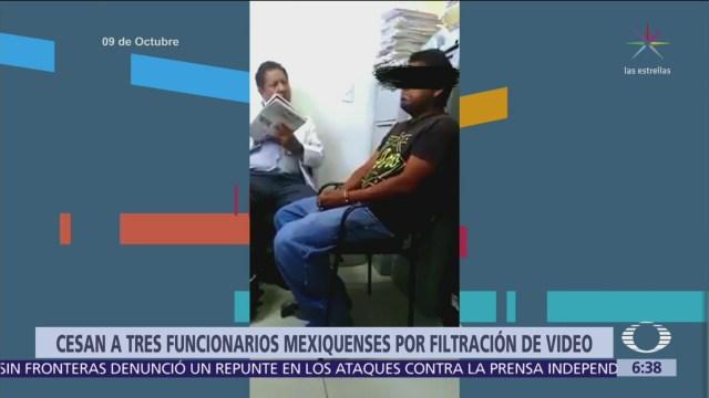 Destituyen a policías por filtrar video de 'El Monstruo de Ecatepec'