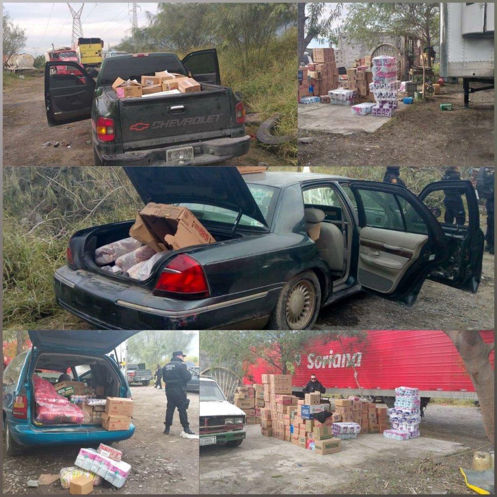 Detienen a asaltantes tras saqueo a tráiler con mercancía