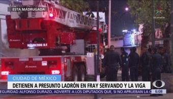 Detienen a presunto ladrón en Fray Servando y La Viga, CDMX