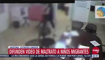 Difunden Video Maltrato Niños Migrantes Arizona