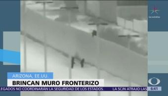 Difunden video de migrantes que brincan cerca fronteriza en Arizona