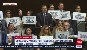 Diputados protestan por recortes en el Presupuesto