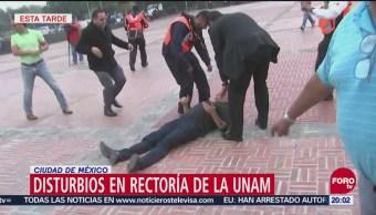 Disturbios En Rectoría De La Unam