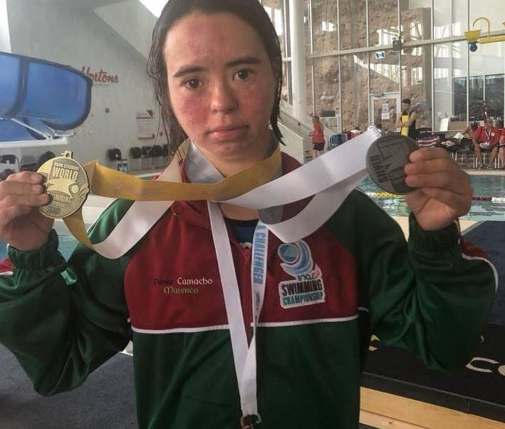 Dunia Camacho Marenco, la mejor nadadora con Síndrome de Down.