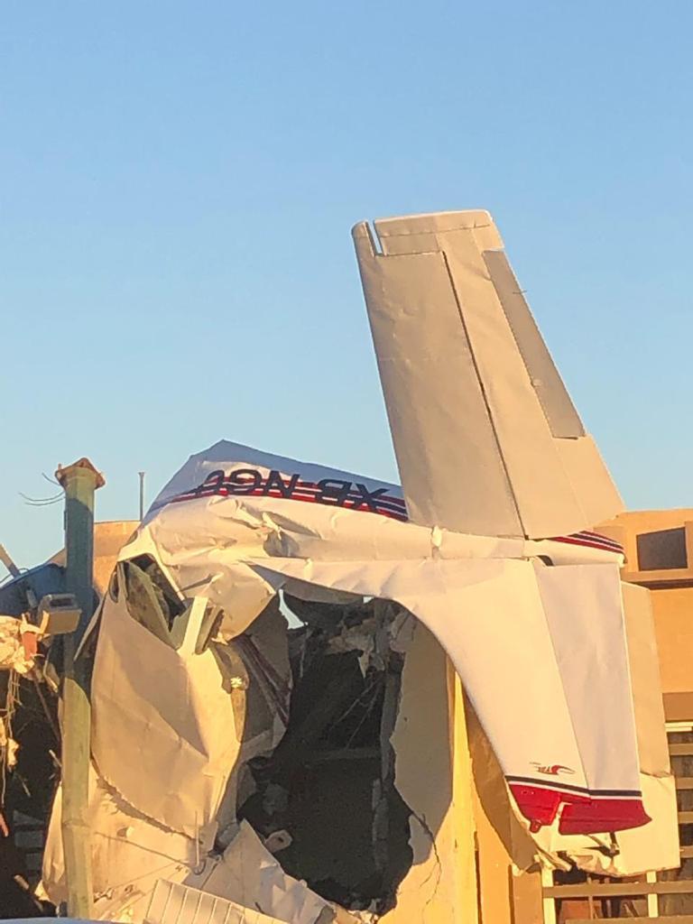 En la avioneta viajaban cuatro personas las cuales perdieron la vida en el momento del impacto (El Debate)