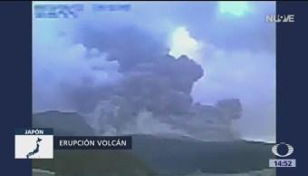 Erupción volcánica en Japón