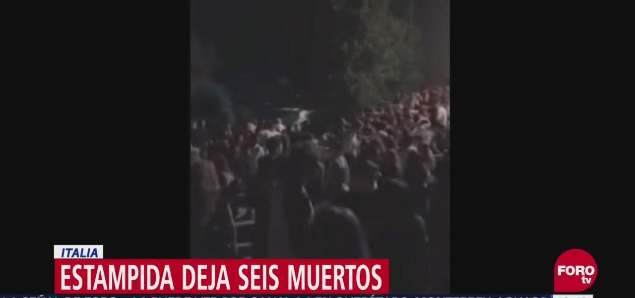 Al menos seis muertos ocasiona estampida en un club nocturno de Italia; los asistentes entraron en pánico cuando alguien roció gas pimienta
