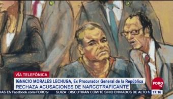 Exprocurador Morales Lechuga niega haber recibido sobornos de 'El Chapo'