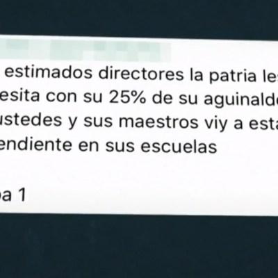 Maestros de Chilpancingo reciben mensajes de extorsión; les piden parte de su aguinaldo