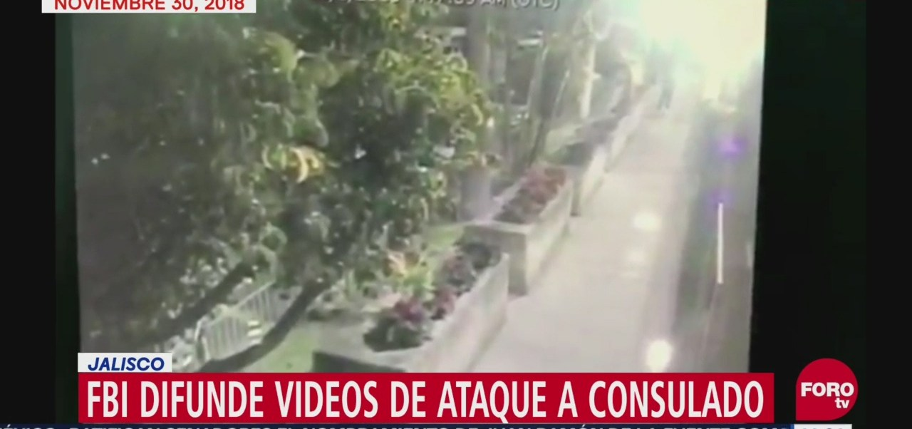 FBI difunde nuevos videos de ataque a consulado de EU en Guadalajara