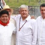 AMLO, junto con el gobernador de Chiapas, Rutilio Escandón, ponen en marcha proyecto de Tren Maya en Chiapas
