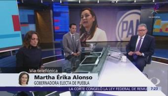 Gobernadora electa de Puebla llama a AMLO a tender puentes