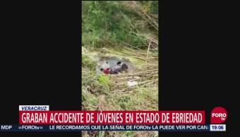 Accidente Jóvenes Estado Ebriedad Veracruz