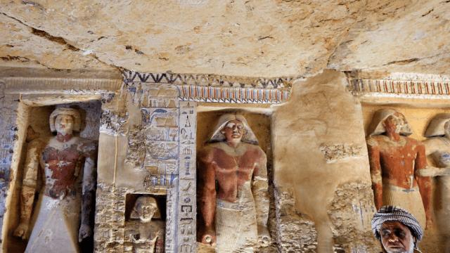 Egipto anuncia el hallazgo de una tumba de hace 4.400 anos